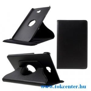 SAMSUNG Galaxy Tab A 10.1 LTE (2016) SM-T585 /SAMSUNG Galaxy Tab A 10.1 WIFI (2016) SM-T580 Tok álló, bőr (FLIP, asztali tartó funkció, 360°-ban forgatható) FEKETE