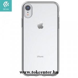 APPLE IPhone XR 6.1 DEVIA telefonvédő gumi / szilikon (légpárnás keret) ÁTLÁTSZÓ