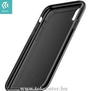 APPLE IPhone XR 6.1 DEVIA telefonvédő gumi / szilikon (légpárnás keret) FÜSTSZÍNŰ