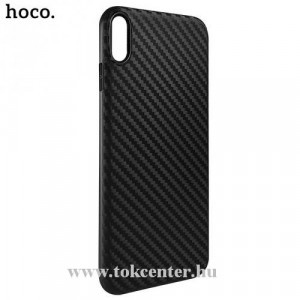 APPLE IPhone XR 6.1 HOCO DELICATE SHADOW telefonvédő gumi / szilikon (karbon minta) FEKETE