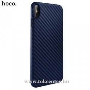 APPLE IPhone XR 6.1 HOCO DELICATE SHADOW telefonvédő gumi / szilikon (karbon minta) SÖTÉTKÉK
