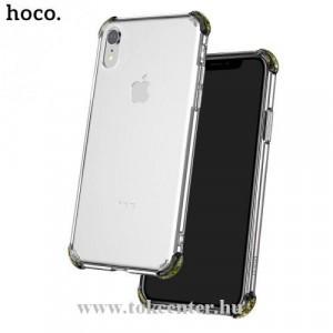 APPLE IPhone XR 6.1 HOCO ICE SHIELD telefonvédő gumi / szilikon (közepesen ütésálló, légpárnás sarok, átlátszó hátlap) ÁTLÁTSZÓ