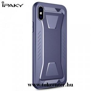 APPLE IPhone X 5.8 /APPLE IPhone XS 5.8 IPAKY PHANTOM telefonvédő gumi / szilikon (közepesen ütésálló, rombuszminta) SÖTÉTKÉK