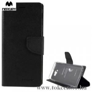 SAMSUNG Galaxy J4 Plus (J415F) MERCURY Fancy Diary tok álló, bőr (FLIP, oldalra nyíló, bankkártya tartó, asztali tartó funkció) FEKETE