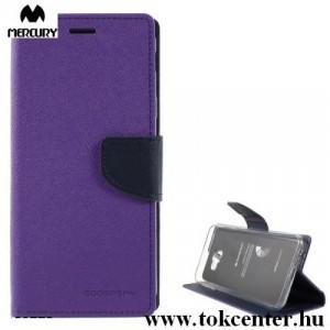 SAMSUNG Galaxy J4 Plus (J415F) MERCURY Fancy Diary tok álló, bőr (FLIP, oldalra nyíló, bankkártya tartó, asztali tartó funkció) LILA