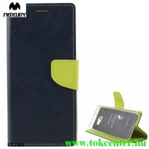 SAMSUNG Galaxy J4 Plus (J415F) MERCURY Fancy Diary tok álló, bőr (FLIP, oldalra nyíló, bankkártya tartó, asztali tartó funkció) SÖTÉTKÉK