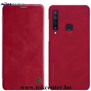 SAMSUNG Galaxy A9 (2018) SM-A920 NILLKIN QIN tok álló, bőr (aktív flip, oldalra nyíló, bankkártya tartó) PIROS