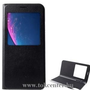 APPLE IPhone XS Max 6.5 Tok álló, bőr (FLIP, oldalra nyíló, asztali tartó funkció, S-View Cover) FEKETE