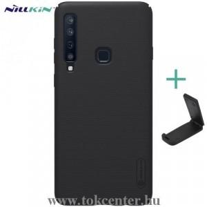 SAMSUNG Galaxy A9 (2018) SM-A920 NILLKIN SUPER FROSTED műanyag telefonvédő (gumírozott, érdes felület + asztali tartó) FEKETE