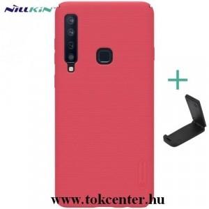 SAMSUNG Galaxy A9 (2018) SM-A920 NILLKIN SUPER FROSTED műanyag telefonvédő (gumírozott, érdes felület + asztali tartó) PIROS