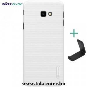 SAMSUNG Galaxy J4 Plus (J415F) NILLKIN SUPER FROSTED műanyag telefonvédő (gumírozott, érdes felület + asztali tartó) FEHÉR
