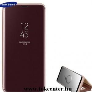 SAMSUNG Galaxy S9 (SM-G960) Tok álló (aktív flip, oldalra nyíló, Clear View Cover) ARANY (EF-ZG960CF)
