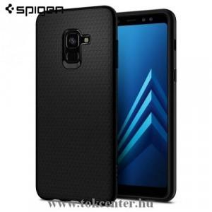 SAMSUNG Galaxy A8 (2018) SM-A530F SPIGEN LIQUID AIR telefonvédő gumi / szilikon (háromszög minta) FEKETE