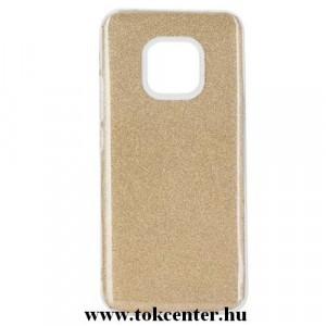 HUAWEI Mate 20 Pro Telefonvédő gumi / szilikon (műanyag belső, csillogó hátlap) ARANY