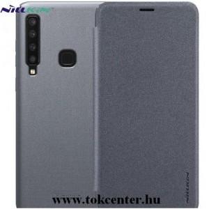 SAMSUNG Galaxy A9 (2018) SM-A920 NILLKIN SPARKLE műanyag telefonvédő (mikroszálas bőr flip, oldalra nyíló) FEKETE