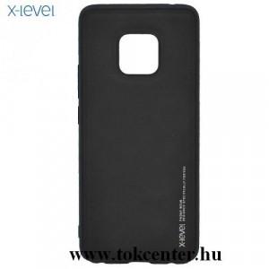 HUAWEI Mate 20 Pro X-LEVEL telefonvédő gumi / szilikon (bőr hátlap) FEKETE