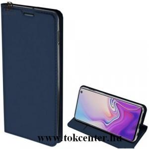 SAMSUNG Galaxy S10e (SM-G970) DUX DUCIS SKIN PRO tok álló, bőr (FLIP, oldalra nyíló, bankkártya tartó, asztali tartó funkció) SÖTÉTKÉK