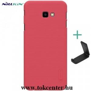 SAMSUNG Galaxy J4 Plus (J415F) NILLKIN SUPER FROSTED műanyag telefonvédő (gumírozott, érdes felület + asztali tartó) PIROS