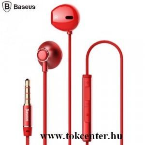 BASEUS ENCOK H06 fülhallgató SZTEREO (3.5mm jack, mikrofon, felvevő gomb, hangerő szabályzó) PIROS