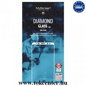 SAMSUNG Galaxy J4 Plus (J415F) /SAMSUNG Galaxy J6 Plus (J610F) MYSCREEN DIAMOND GLASS EDGE képernyővédő üveg (2.5D, full glue, teljes felületén tapad, karcálló, 0.33 mm, 9H) FEKETE