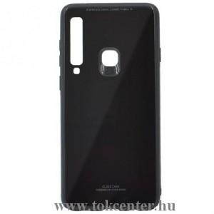SAMSUNG Galaxy A9 (2018) SM-A920 Műanyag telefonvédő (közepesen ütésálló, üveg hátlap) FEKETE