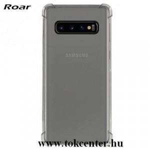 SAMSUNG Galaxy S10 (SM-G973) ROAR ARMOR műanyag telefonvédő (szilikon keret, közepesen ütésálló, légpárnás sarok) ÁTLÁTSZÓ