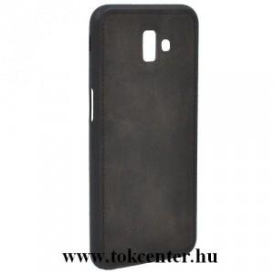 SAMSUNG Galaxy J6 Plus (J610F) Telefonvédő gumi / szilikon (szövetminta) FEKETE