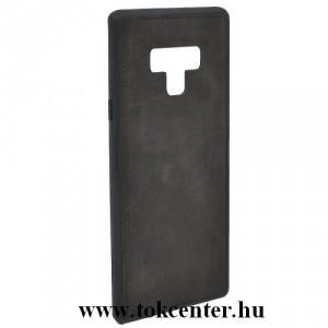 SAMSUNG Galaxy Note 9 (SM-N960F) Telefonvédő gumi / szilikon (szövetminta) FEKETE