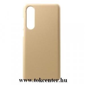 HUAWEI P30 Műanyag telefonvédő (gumírozott) ARANY