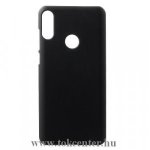 ASUS Zenfone Max Pro (M2) ZB631KL Műanyag telefonvédő (gumírozott) FEKETE