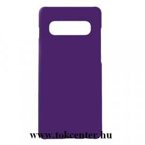 SAMSUNG Galaxy S10e (SM-G970) Műanyag telefonvédő (gumírozott) LILA
