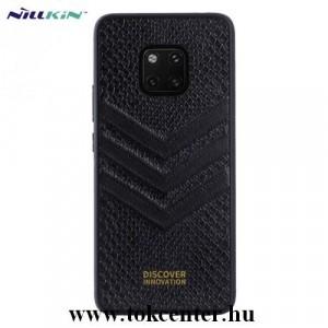 HUAWEI Mate 20 NILLKIN PRESTIGE műanyag telefonvédő (szilikon keret, bőr hátlap, kigyóbőr minta) FEKETE
