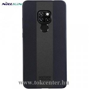 HUAWEI Mate 20 Pro NILLKIN RACER CASE műanyag telefonvédő (szilikon keret, bőr hátlap) FEKETE
