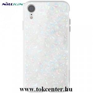 APPLE IPhone XS Max 6.5 NILLKIN SEASHELL telefonvédő műanyag keret (BUMPER, edzett üveg hátlap, márványminta) FEHÉR