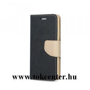 Sony Xperia XA1 fekete-arany szilikon keretes könyvtok