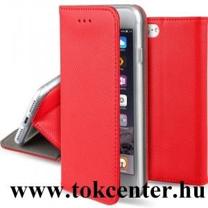 Sony Xperia XA1 piros mágneses átlátszó szilikon keretes könyvtok
