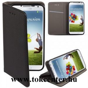 Sony Xperia XA1 Ultra G3212 fekete mágneses szilikon keretes könyvtok