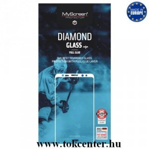 SAMSUNG Galaxy A8 (2018) SM-A530F MYSCREEN DIAMOND GLASS EDGE képernyővédő üveg (2.5D, full glue, teljes felületén tapad, karcálló, 0.33 mm, 9H) FEKETE