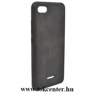XIAOMI Redmi 6A Telefonvédő gumi / szilikon (szövetminta) FEKETE