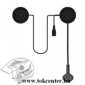 BLUETOOTH fülhallgató bukósisakhoz (mikrofon, tépőzáras) MOTOROS / EXTRÉM SPORTOKHOZ FEKETE