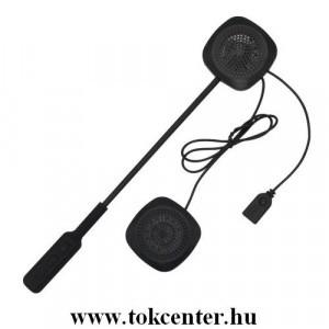 BLUETOOTH fülhallgató bukósisakhoz (mikrofon, tépőzáras, felvevő gomb) MOTOROS / EXTRÉM SPORTOKHOZ FEKETE