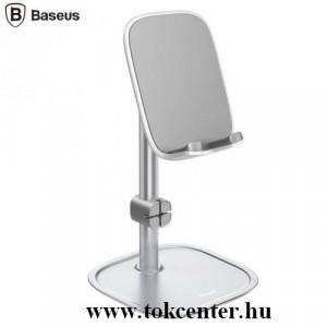 BASEUS UNIV asztali tartó (állvány, dönthető, 20 cm magas, kábeltartó, alumínium) EZÜST