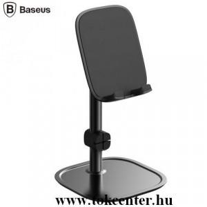 BASEUS UNIV asztali tartó (állvány, dönthető, 20 cm magas, kábeltartó, alumínium) FEKETE