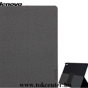 LENOVO Tab E10 (TB-X104F) Tok álló, bőr hatású (FLIP, asztali tartó funkció) FEKETE