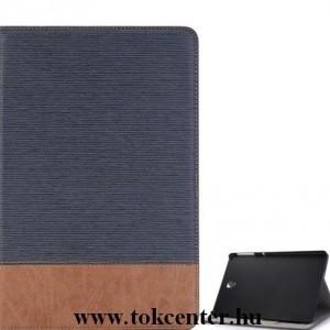 SAMSUNG Galaxy Tab S4 10.5 LTE / WIFI Tok álló, bőr (aktív flip, oldalra nyíló, asztali tartó funkció, bankkártya tartó, textilminta) KÉK