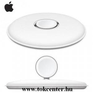 Asztali töltő (mágneses, vezeték nélküli töltés) FEHÉR Apple Watch 1 / 2 / 3 / 4