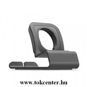 Karóra állvány (alumínium, töltő kialakítás) SZÜRKE Apple Watch 1 / 2 / 3 / 4 38mm / 40mm/ 42mm / 44mm