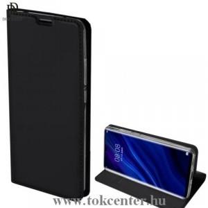 HUAWEI P30 Pro DUX DUCIS SKIN PRO tok álló, bőr (FLIP, oldalra nyíló, bankkártya tartó, asztali tartó funkció) FEKETE