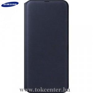 SAMSUNG Galaxy A50 (SM-505F) Tok álló, bőr (aktív flip, oldalra nyíló, bankkártya tartó) FEKETE (EF-WA505PBEG)