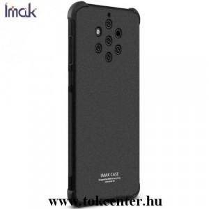 NOKIA 9 PureView IMAK telefonvédő gumi / szilikon (közepesen ütésálló, légpárnás sarok, matt + képernyővédő fólia) FEKETE